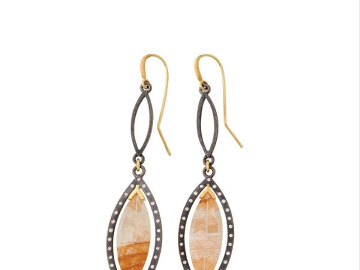 Tmx 1390188812962 Alishan Earrings Rutilated Quartz Earrings E076ss  San Luis Obispo wedding jewelry