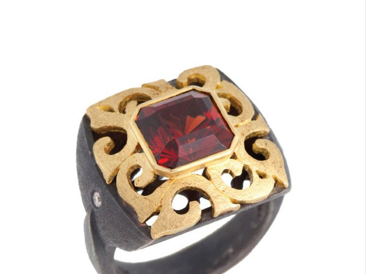 Tmx 1390188830690 Alishan Ring Cut Garnet R319ss 4 001 200 00626 V. San Luis Obispo wedding jewelry