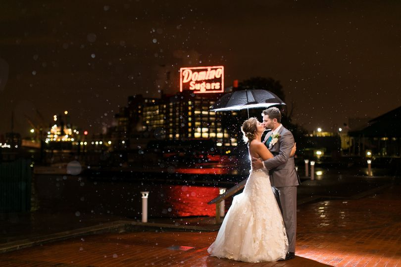 BMI wedding in the rain