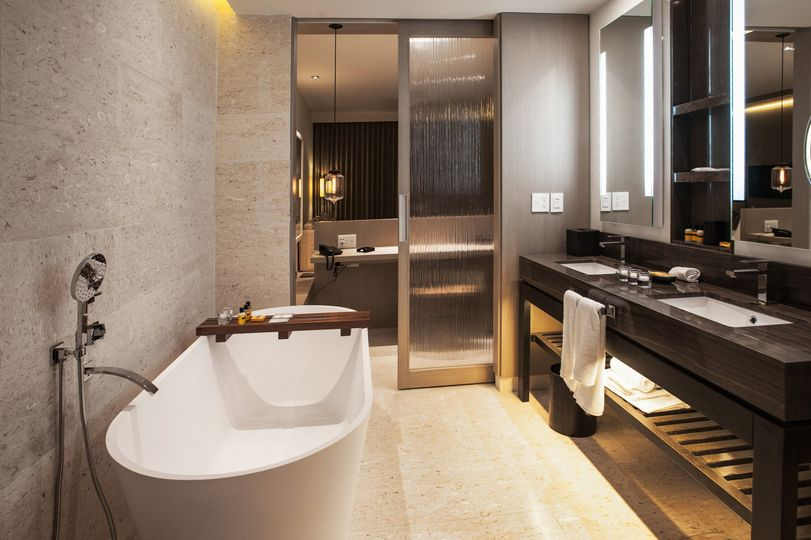 bathrooms to envy in renovated suites