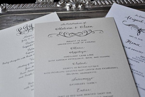 Wedding invitation with embellishments