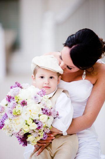 Bride and baby boy