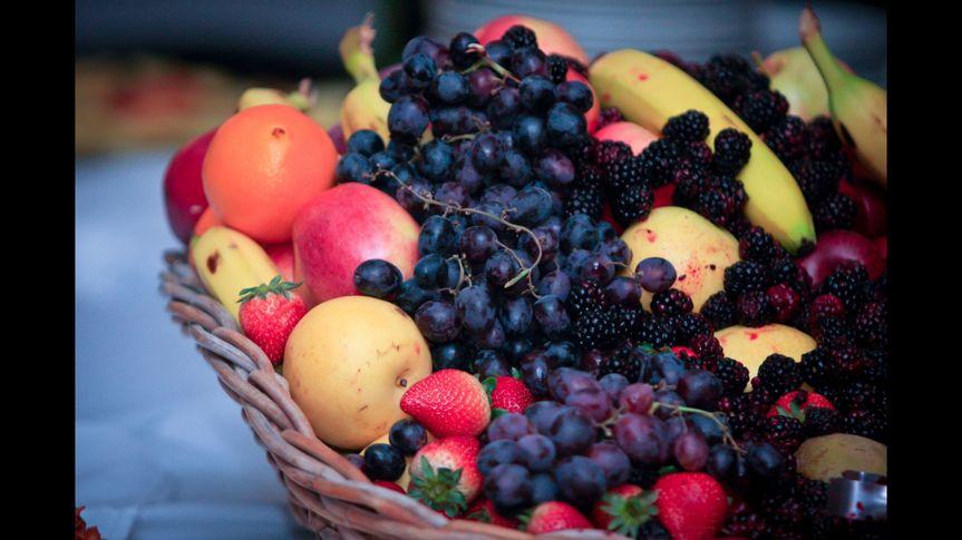 Fruits on the basket