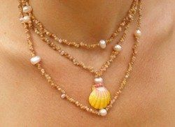 Kahelelani Sunrise Shell Lei for the Bride 808 573 8196 Bridal party jewelry.