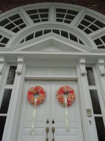 Flower door decor