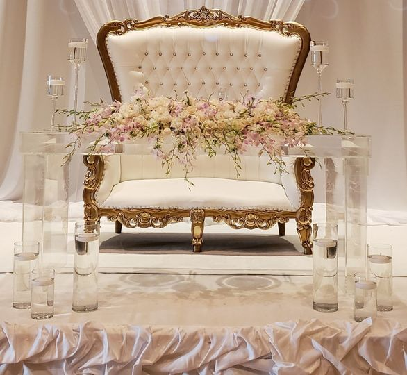 Throne and floral decor