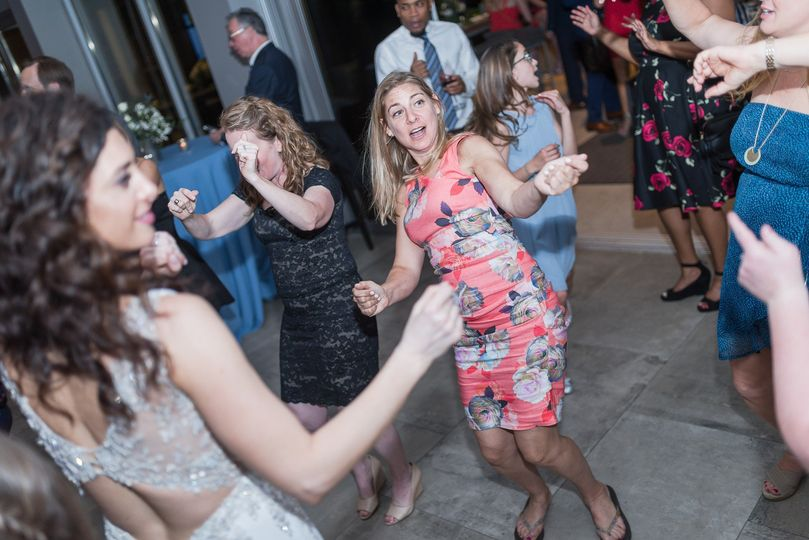 Getting down with the bride!!