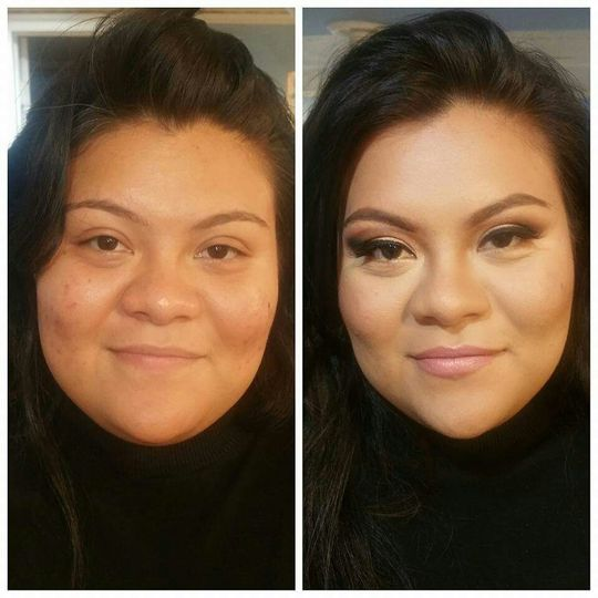 Before and after shot