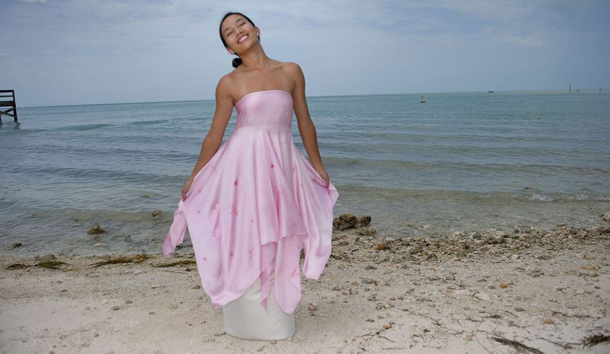 Pretty-in-Pink Beach Wed Dress