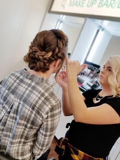 Updo and Makeup