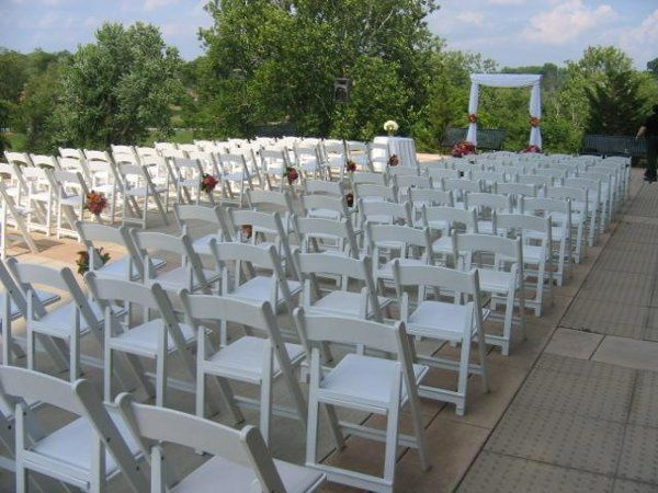 Outdoor ceremony at music center