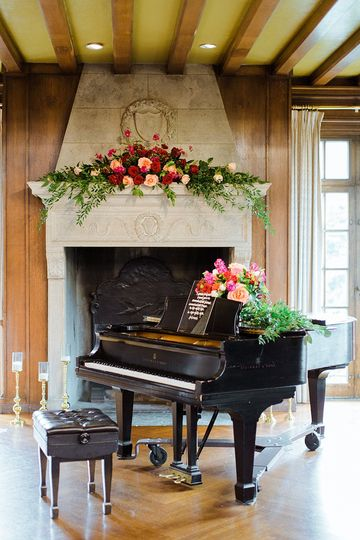 Grand Piano in Music Room