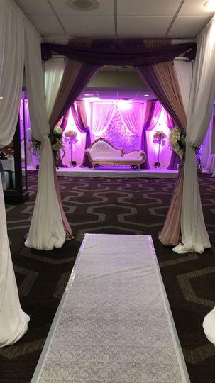 Aisle and drapes