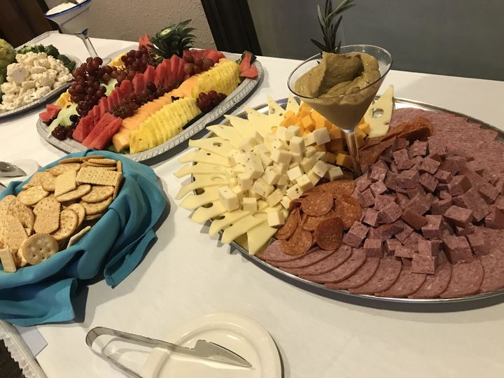 Cold cuts and cheese spread