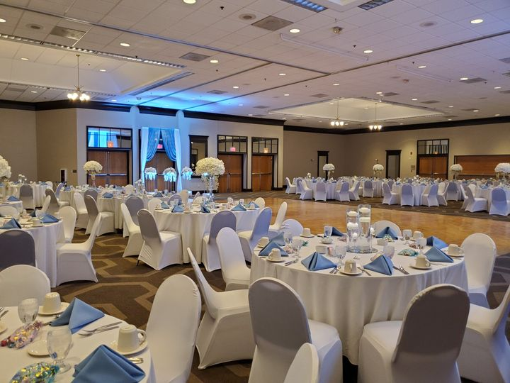 White and Blue Ballroom