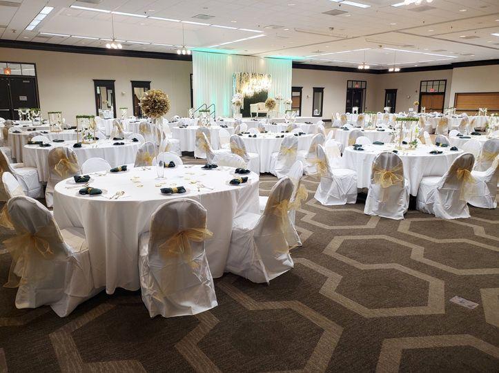 Gold and Green Ballroom