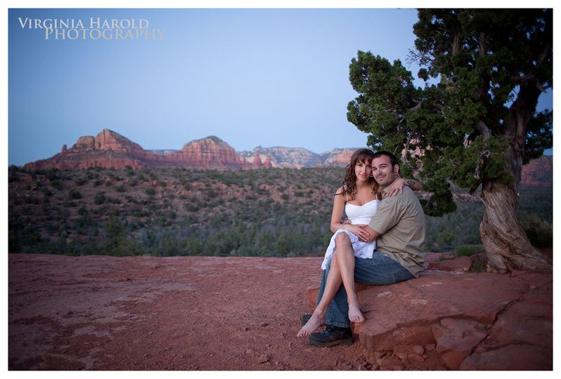 grace and nate sedona engagement cathedral rock