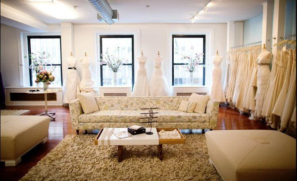 The Modern Trousseau New York bridal gown showroom.