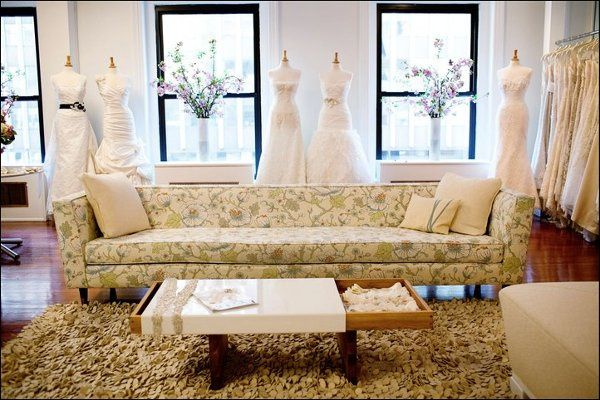 The Modern Trousseau New York couture bridal gown flagship store on 7th Avenue.