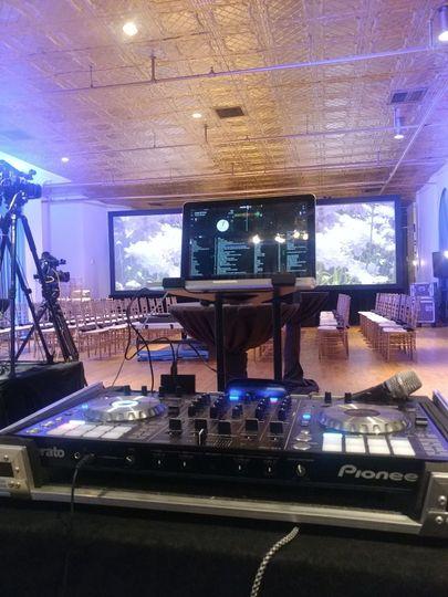 DJ's setup
