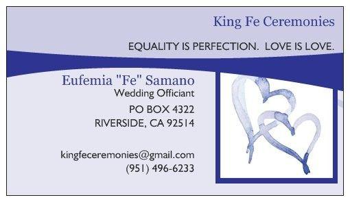 King Fe Ceremonies Officiant Riverside Ca Weddingwire