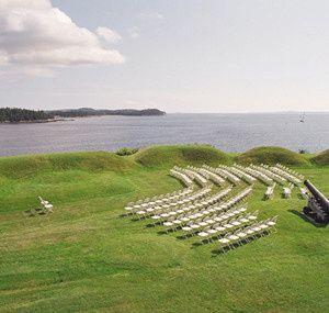 Ft. Madison wedding set up