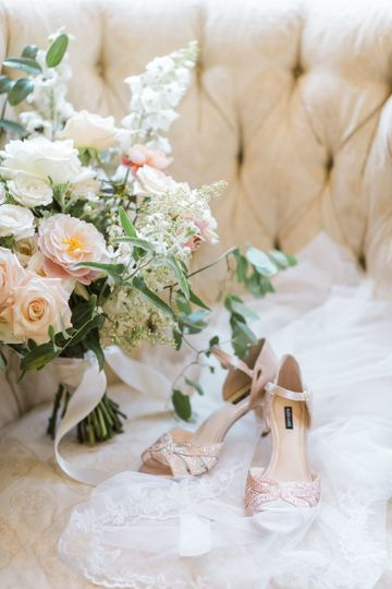 Flower Bouquet and sandal