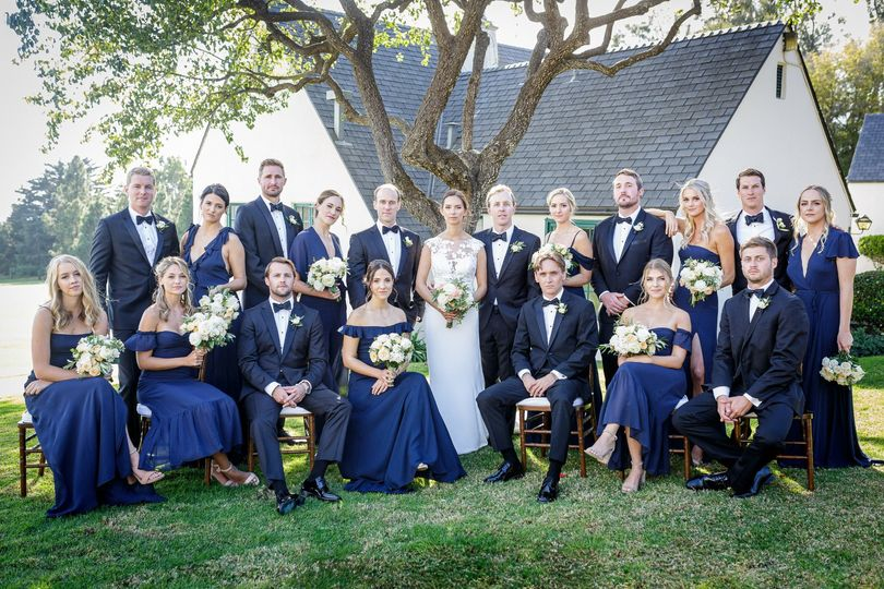 Bridal party in Montecito