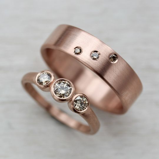 14k rose gold and champagne diamonds 1 copy