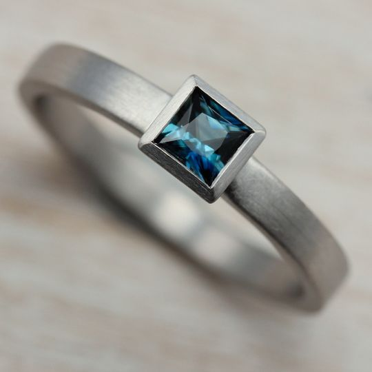 square solitaire engagement ring 950 australian de