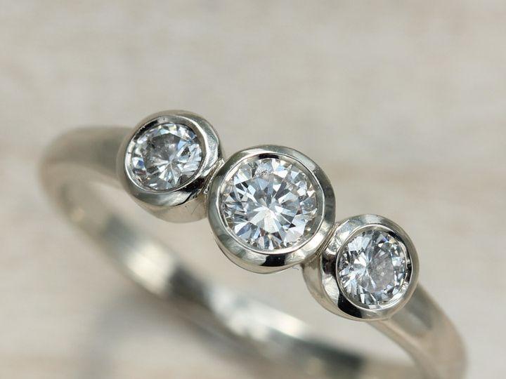 Tmx 1435273384961 3 Stone Ring Diamond White Gold 1 Copy Seattle, WA wedding jewelry
