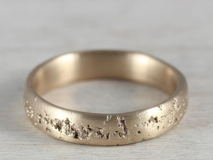 Tmx 1435273544110 4mm Concrete 14k Yellow Gold Womens Band 1 Copy Seattle, WA wedding jewelry