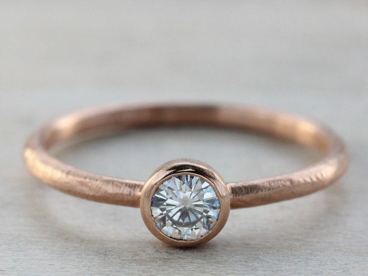 Tmx 1435273579905 4mm Rustic Engagement 14k Rose Gold Moissanite 1 C Seattle, WA wedding jewelry