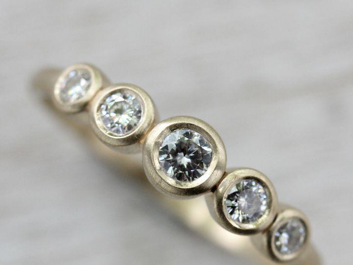Tmx 1435273678718 5 Stone Ring 10k Yellow Gold Moissanite 1 Copy Seattle, WA wedding jewelry