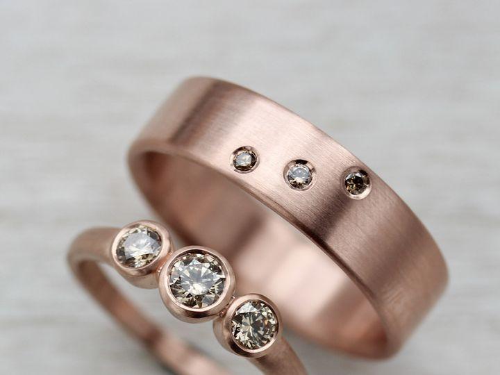 Tmx 1435274038287 14k Rose Gold And Champagne Diamonds 1 Copy Seattle, WA wedding jewelry
