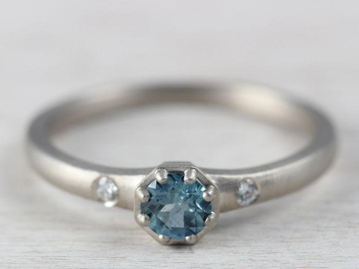 Tmx 1435274102635 14k White Gold Diamond Malawi Sapphire 1 Copy Seattle, WA wedding jewelry