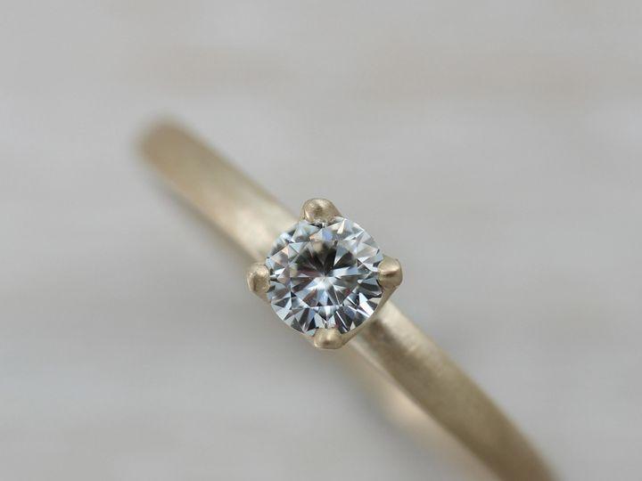 Tmx 1435274141101 14k Yellow Gold Moissanite 5mm Crown Solitaire  1  Seattle, WA wedding jewelry