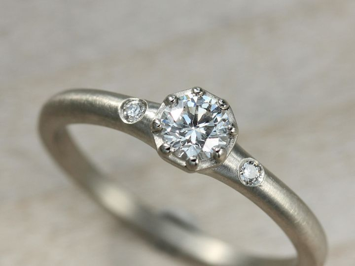 Tmx 1435274193243 Octagon Ring 14k White Diamond 1 Copy Seattle, WA wedding jewelry