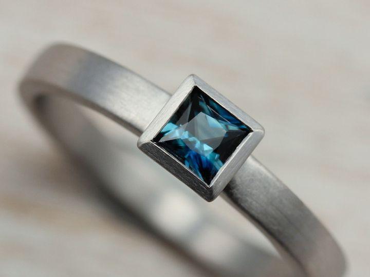 Tmx 1479498166026 Square Solitaire Engagement Ring 950 Australian De Seattle, WA wedding jewelry