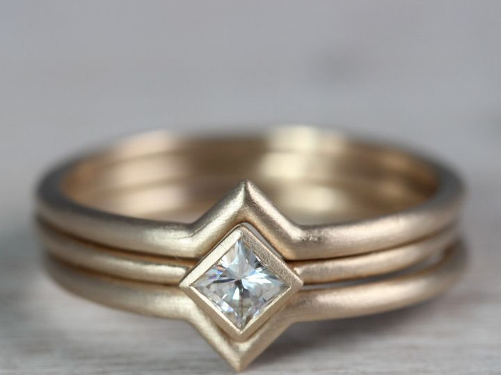 Tmx 1479498252120 Oblique Square Solitaire   10k Yellow Gold  Moissa Seattle, WA wedding jewelry