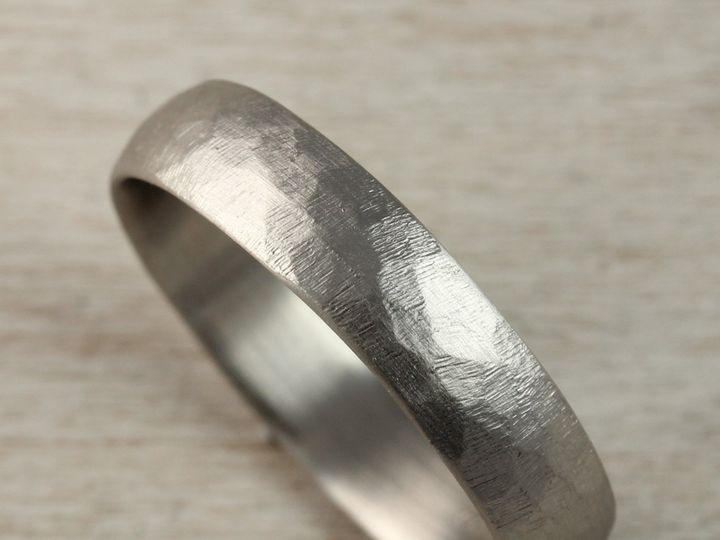 Tmx 1479499145221 14k White Gold 5mm Stone Texture Hand Carved Class Seattle, WA wedding jewelry