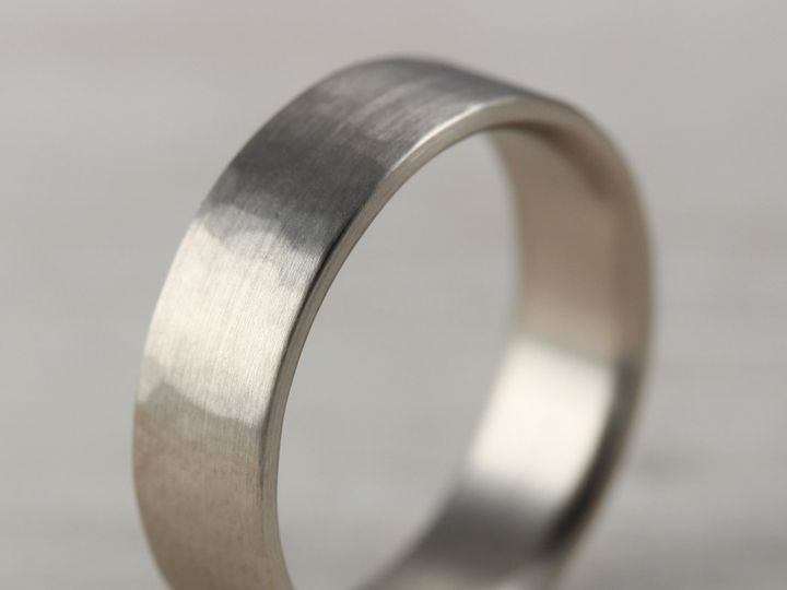 Tmx 1479499163519 6x1.5mm Hammer Texture 14k White Gold 1 Seattle, WA wedding jewelry