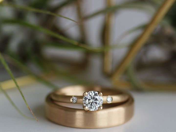 Tmx 1495667792130 5mm Crown Solitaire With Side Stones 5x2mm Edgeles Seattle, WA wedding jewelry