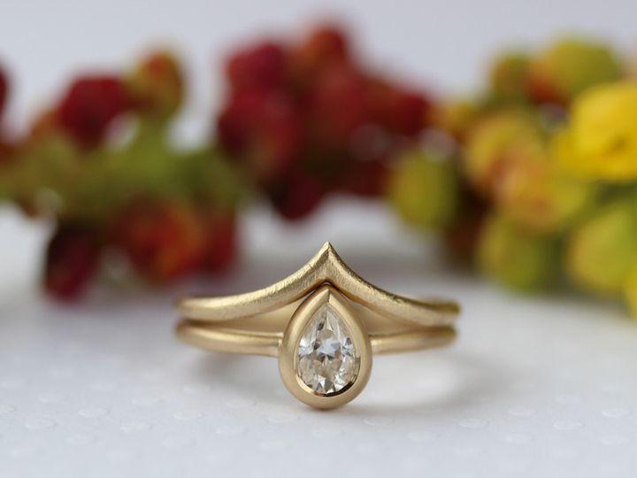 Tmx 1495667804138 6x4mm Pear V Contour Band 1 Seattle, WA wedding jewelry
