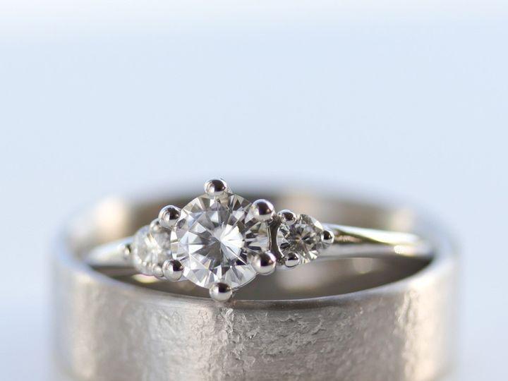 Tmx Palladium Ring Set Three Stone Engagement Ring Trilogy Ring Textured Mens Wedding Band Moissanite Engagement Ring Moissanite Ring Moissanite Three Stone Ring 51 578348 1560193943 Seattle, WA wedding jewelry
