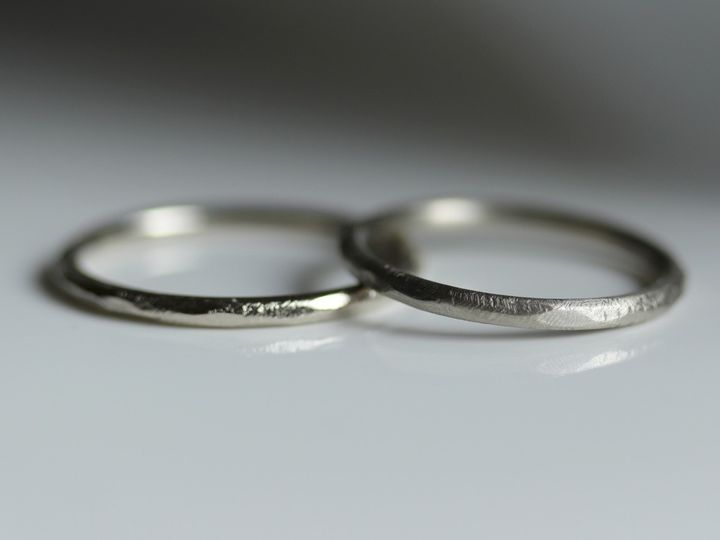 Tmx White Gold Wedding Rings Hers And Hers Wedding Band Set Rustic Textured Rings Textured Wedding Band 51 578348 1560193956 Seattle, WA wedding jewelry