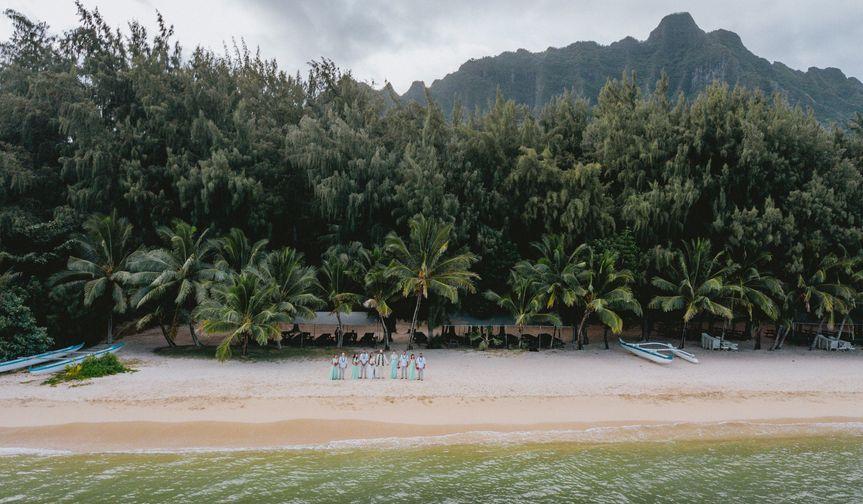 Drone Bridal Party at Kualoa