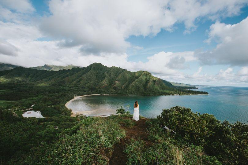 Epic Bridal Portrait Oahu