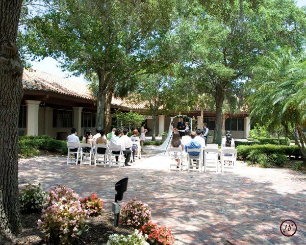 Wedding in our courtyard