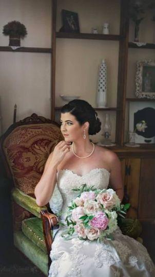 Bride in her suite